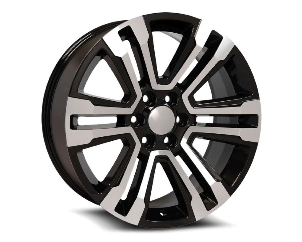 OE Revolution G10-2410655+31BM G-10 Wheel 24x10 6x139.7 31mm Gloss Black Machined Face