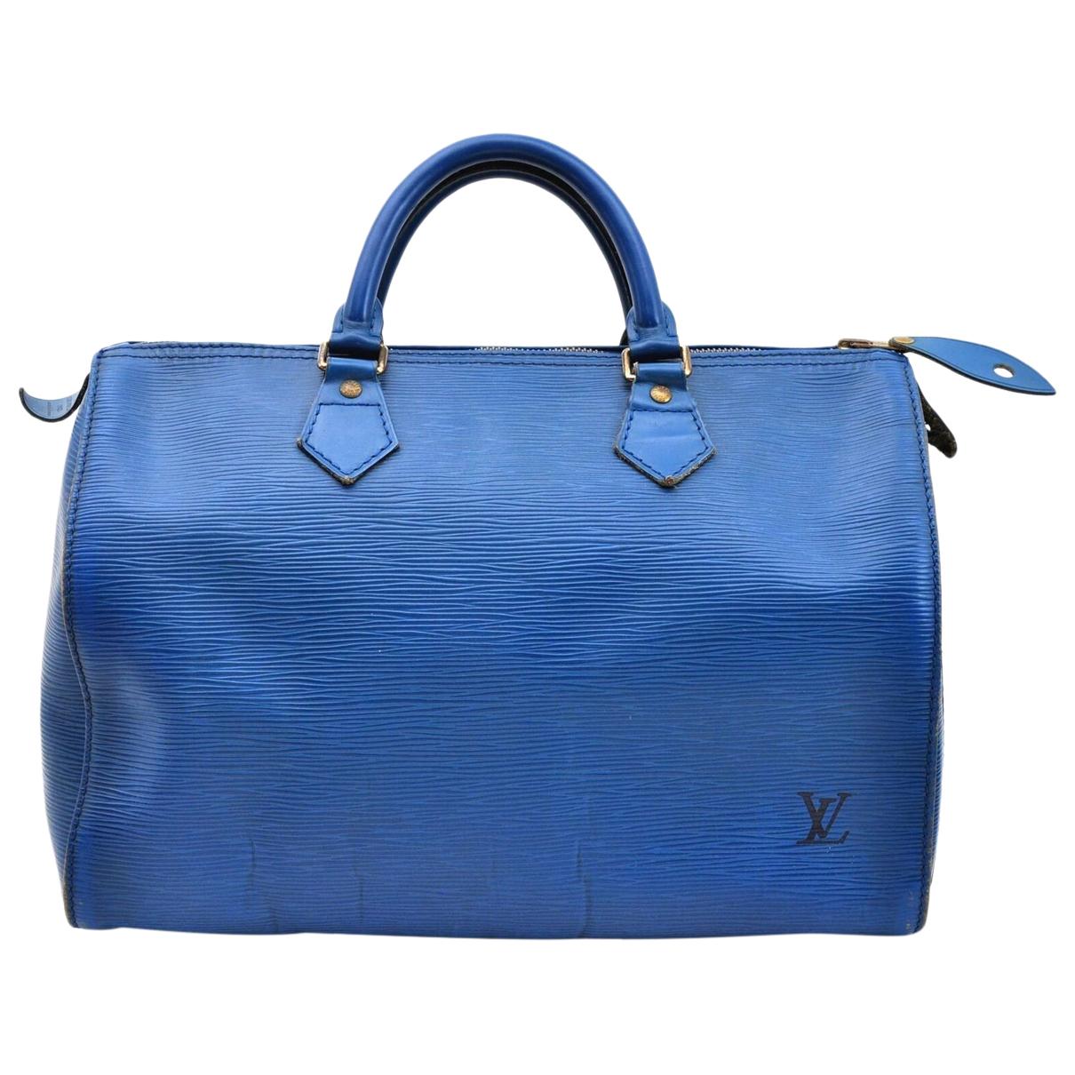 Louis Vuitton \N Handtasche in  Blau Leder