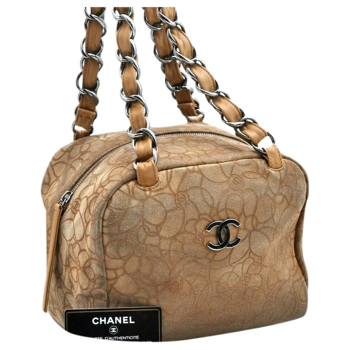Chanel \N Handtasche in  Beige Veloursleder