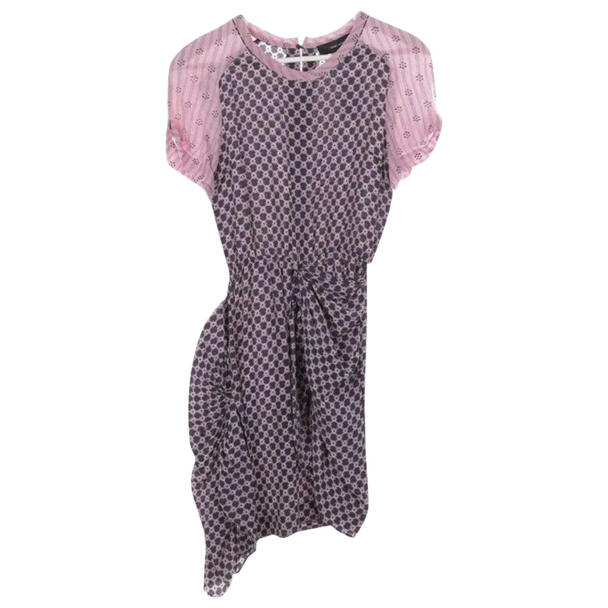 Isabel Marant \N Kleid in  Rosa Seide