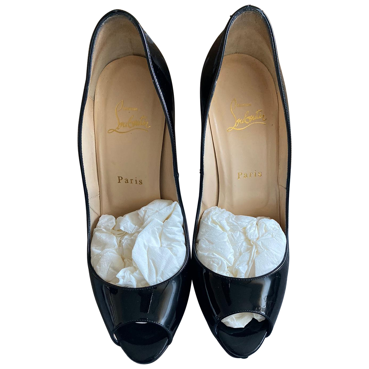 Christian Louboutin Very Privé Black Patent leather Heels for Women 39 EU