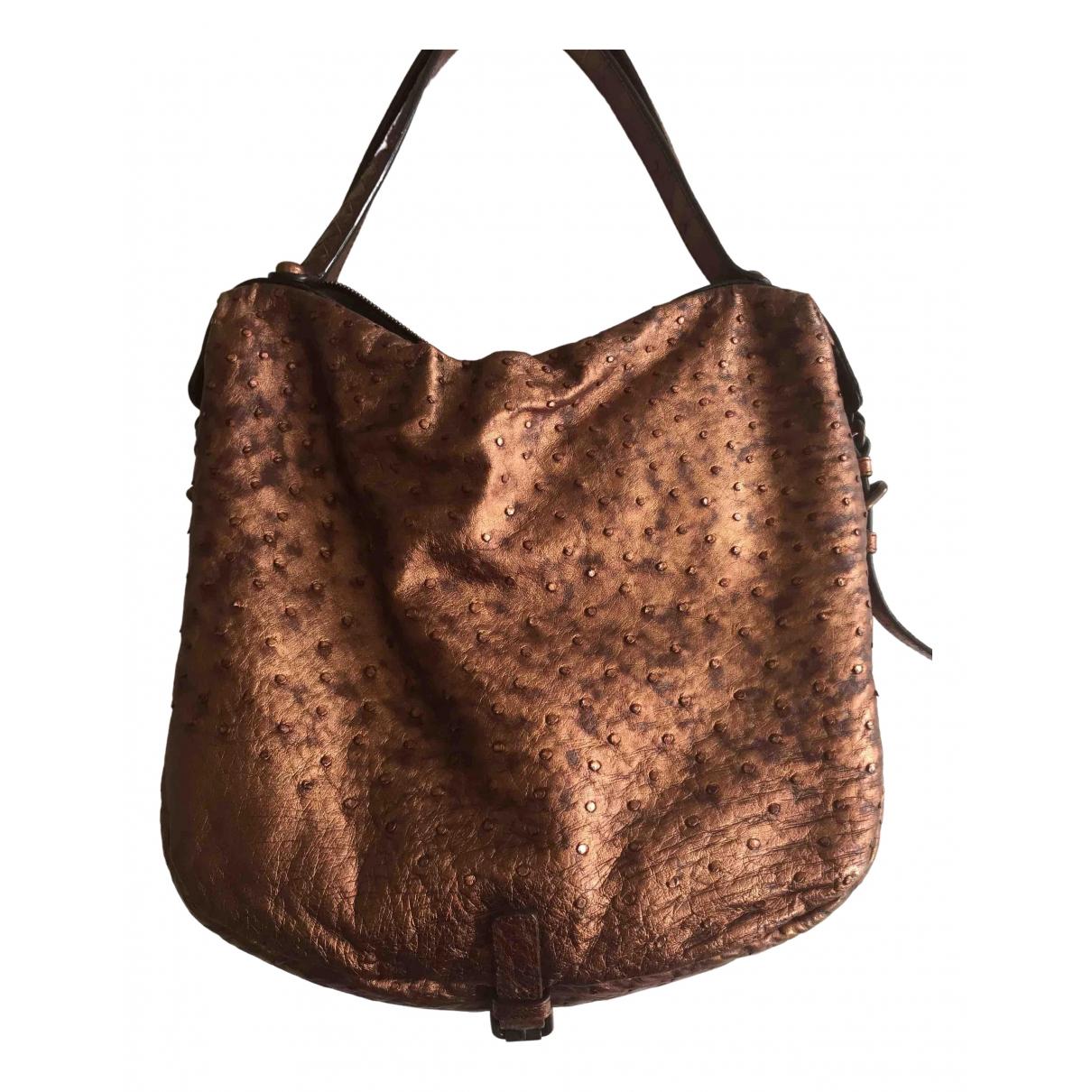 Bottega Veneta \N Brown Ostrich handbag for Women \N