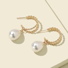 Pearl Decor Drop Earrings