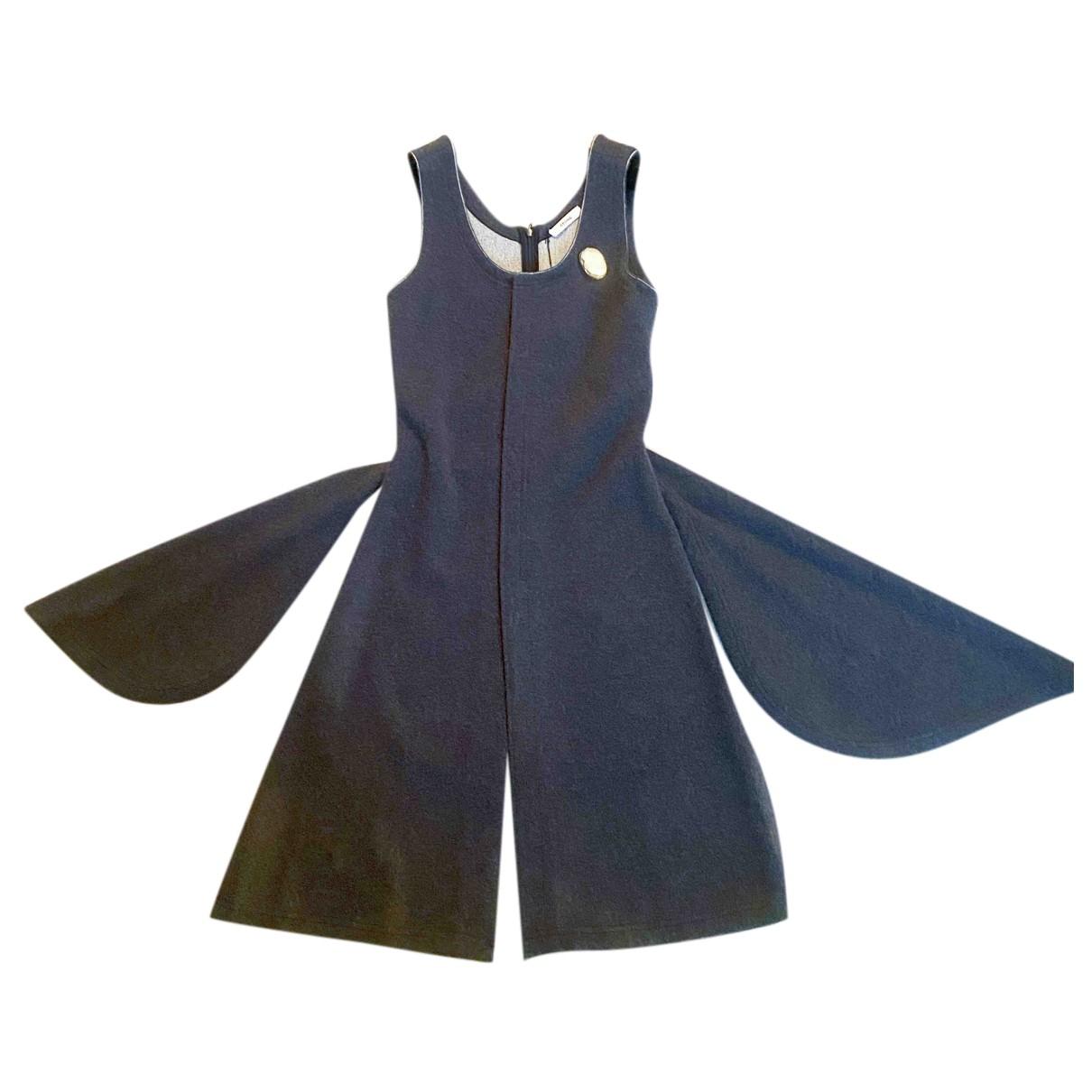 Celine N Grey Wool dress for Women 36 FR