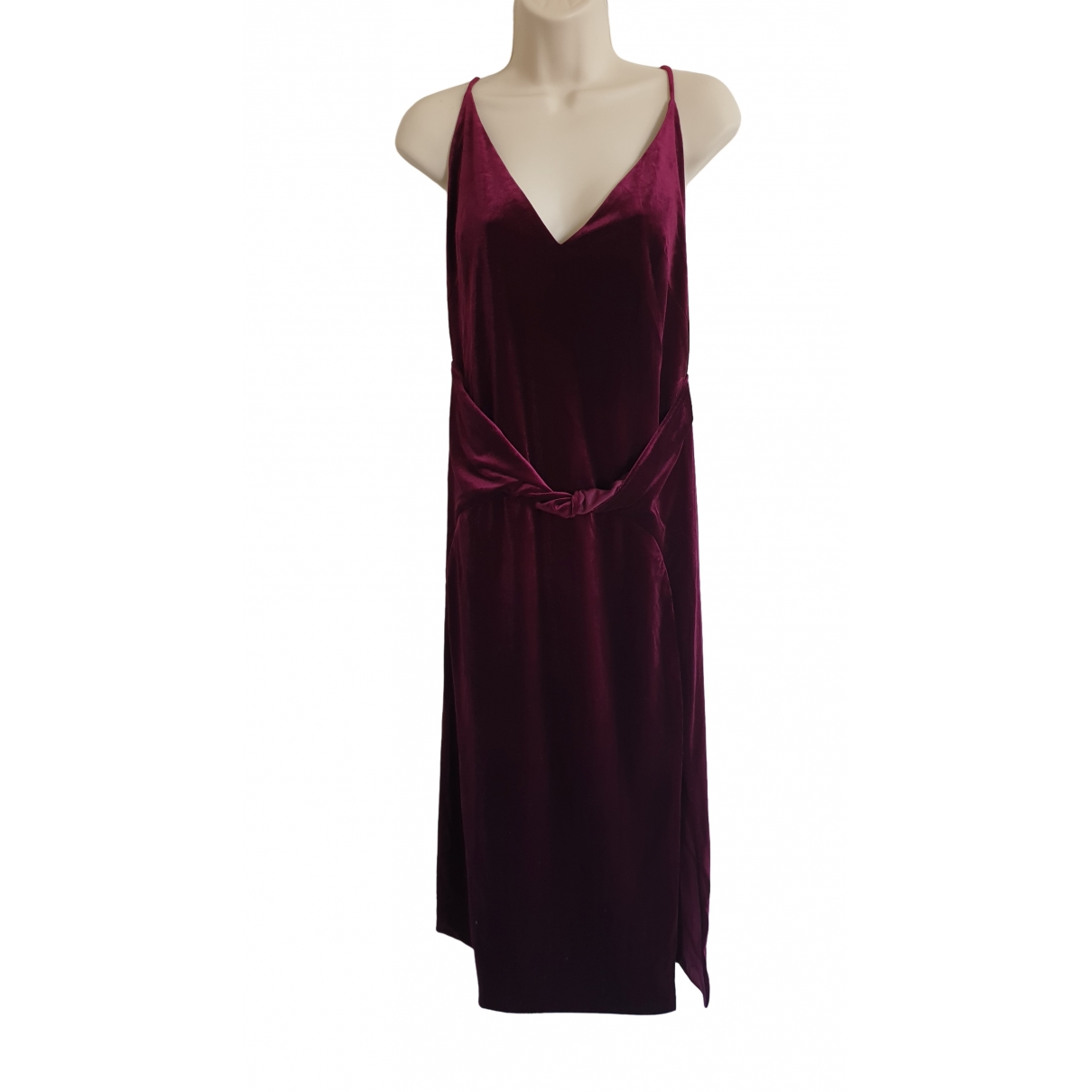 Catherine Malandrino \N Kleid in  Bordeauxrot Samt
