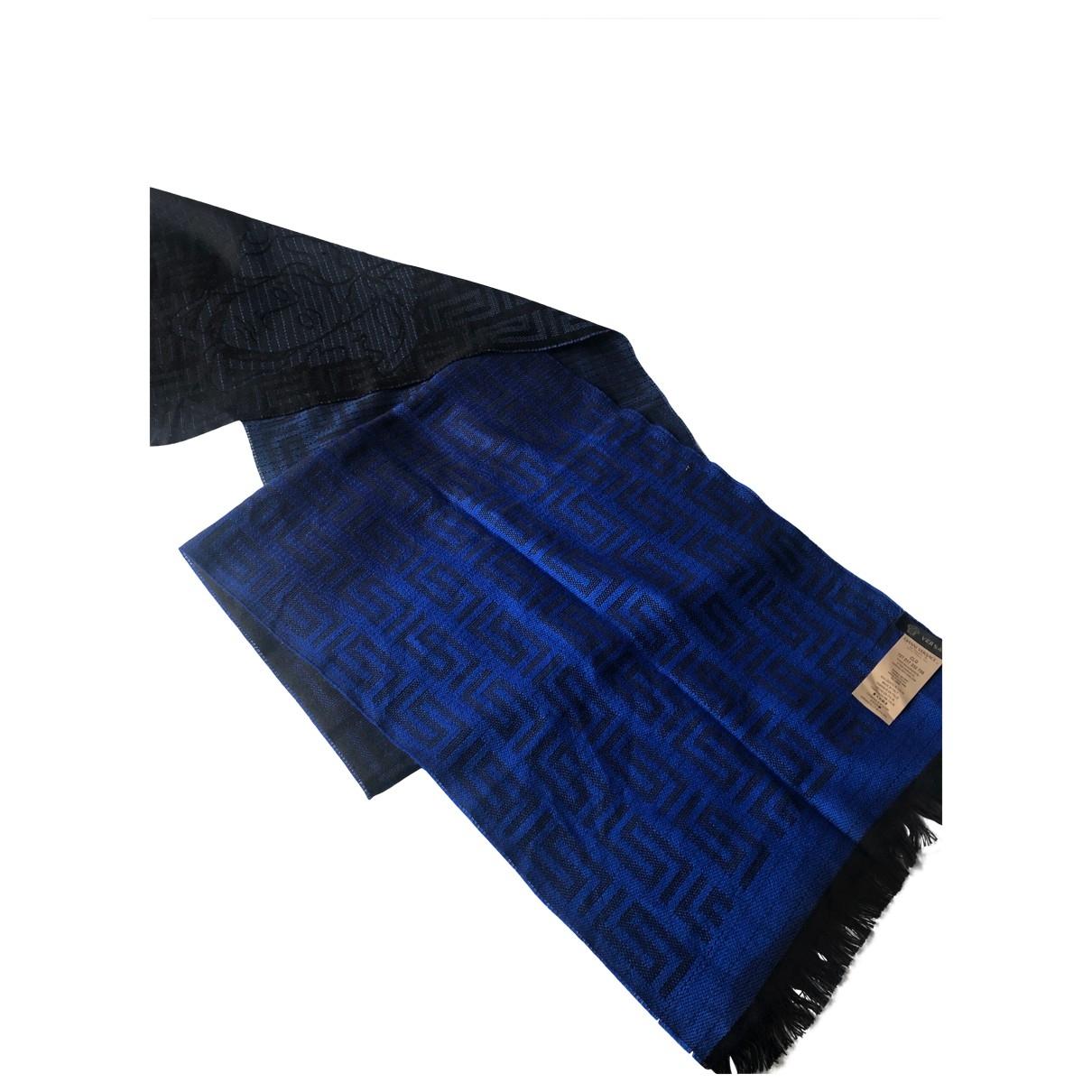 Versace \N Tuecher, Schal in  Blau Wolle