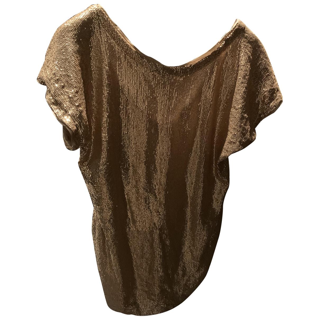 Twin Set - Robe   pour femme en a paillettes - metallise