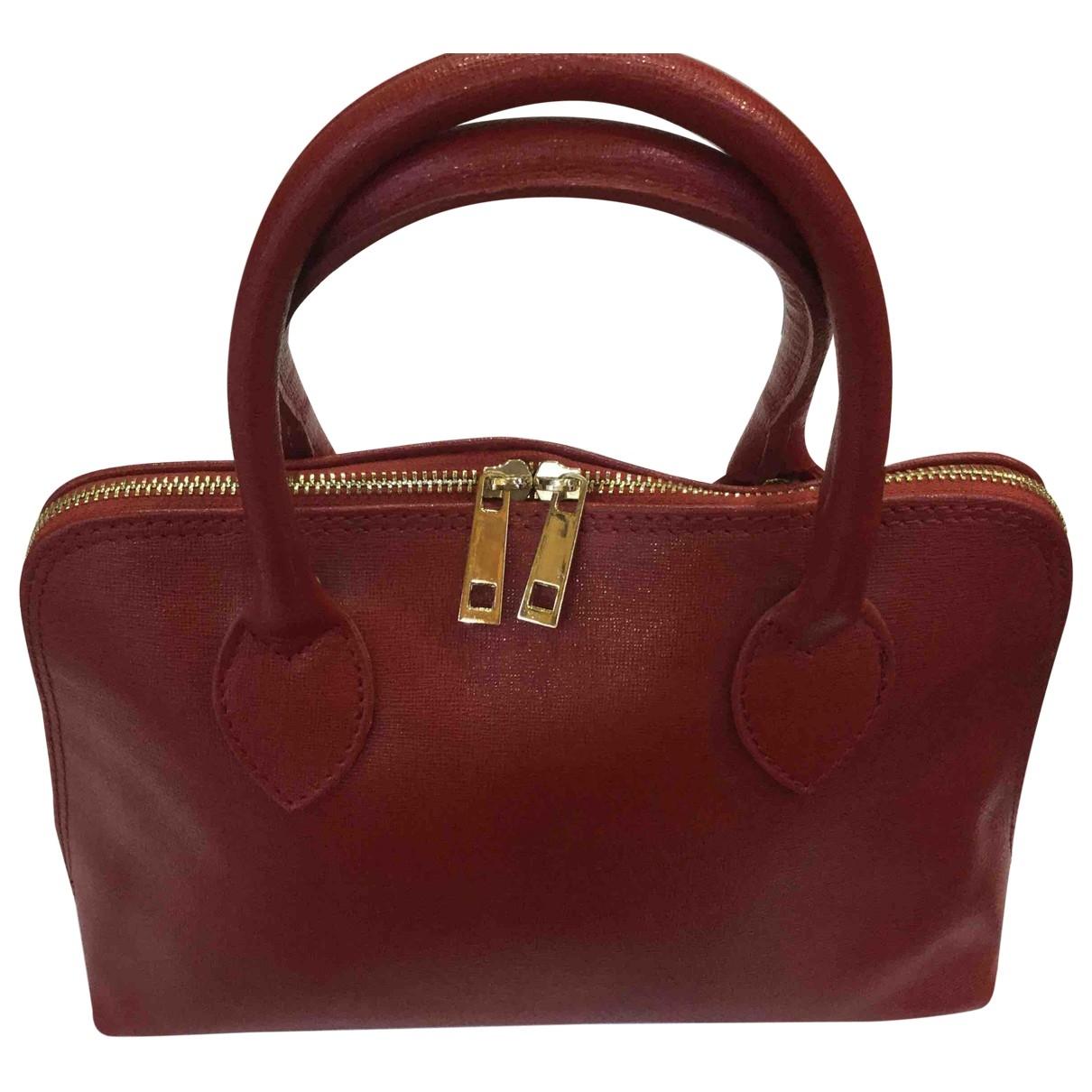 Non Signe / Unsigned \N Handtasche in  Rot Leder
