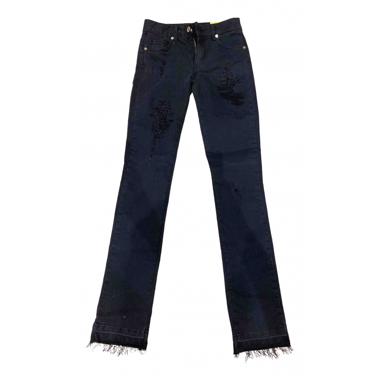 Blumarine \N Black Denim - Jeans Jeans for Women 25 US