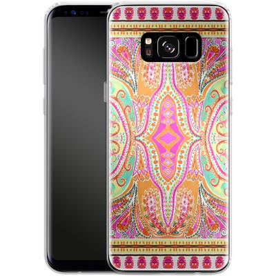 Samsung Galaxy S8 Silikon Handyhuelle - Paisley Pink von Amy Sia