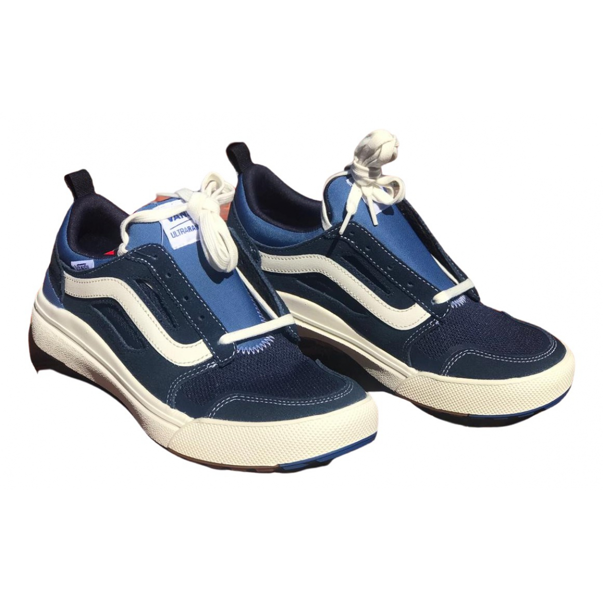 Vans - Baskets   pour homme en cuir - bleu