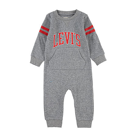 Levi's Baby Boys Long Sleeve Jumpsuit, 6 Months , Gray