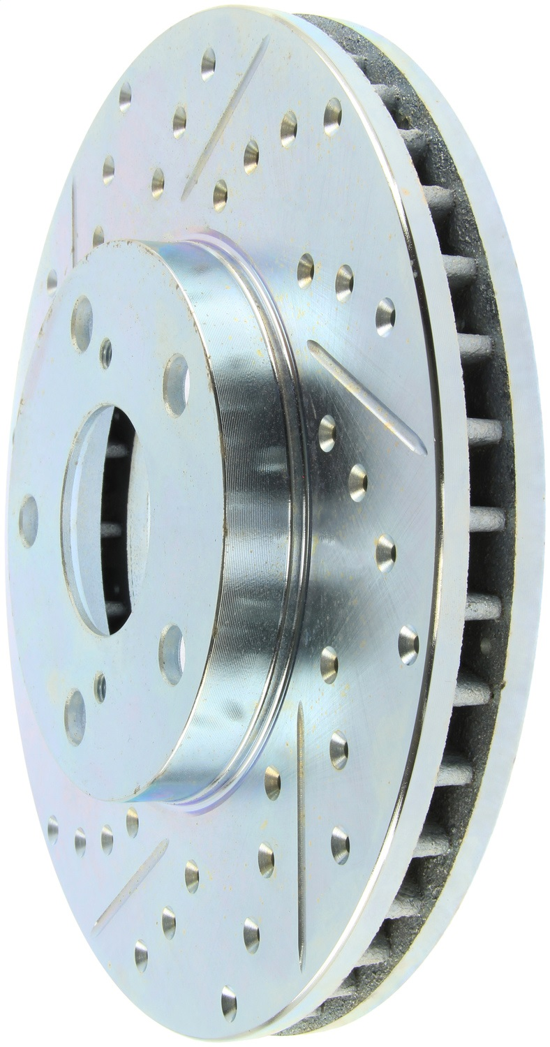 StopTech 227.44079R Select Sport Drilled and Slotted Brake Rotor; Front Right