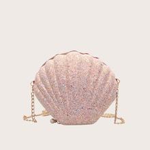 Glitter Shell Shaped Crossbody Bag