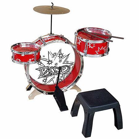 Ready Ace Kiddy Jazz Dum Set, One Size , Red