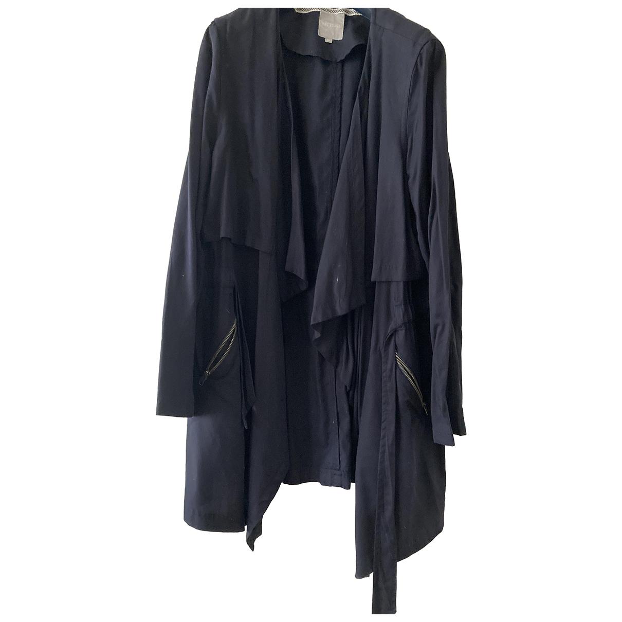 Autre Marque - Manteau   pour femme en coton - marine