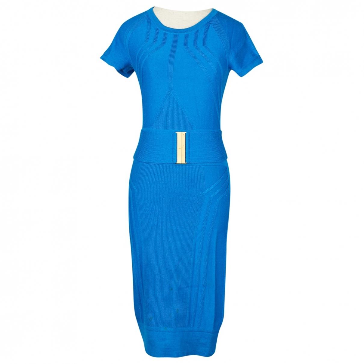 Diane Von Furstenberg \N Blue Wool dress for Women S International