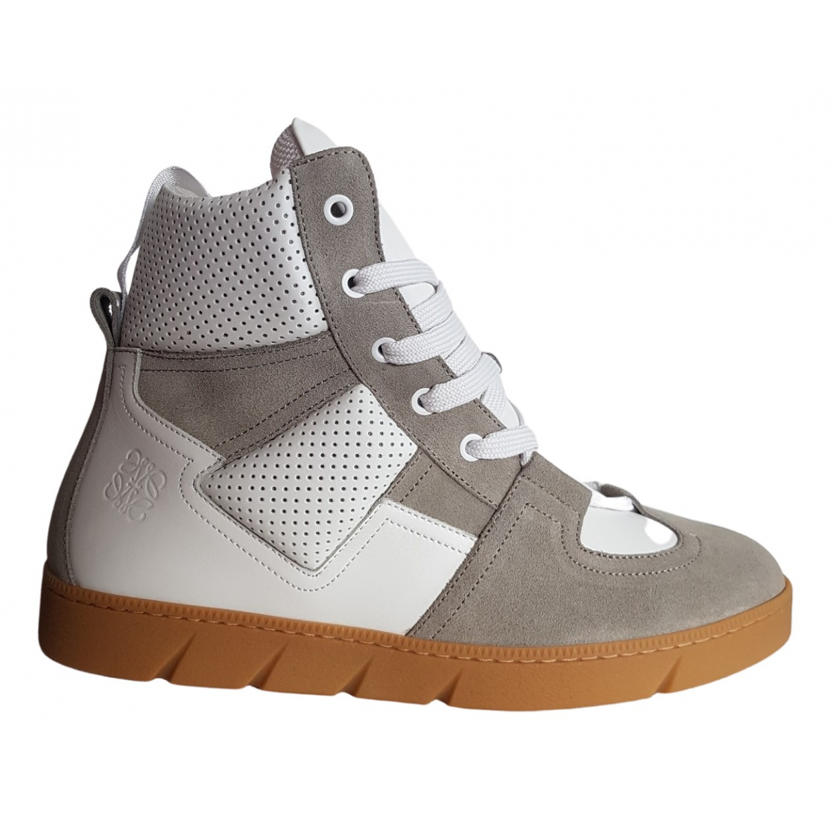 Loewe N White Leather Trainers for Men 41 EU