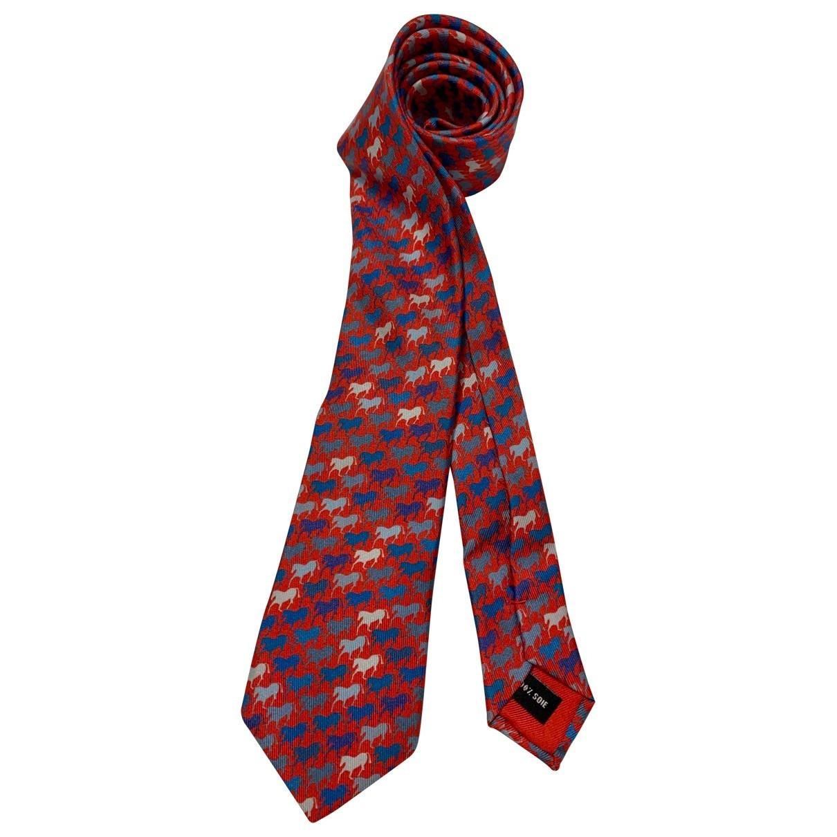 Hermes \N Krawatten in  Bunt Seide