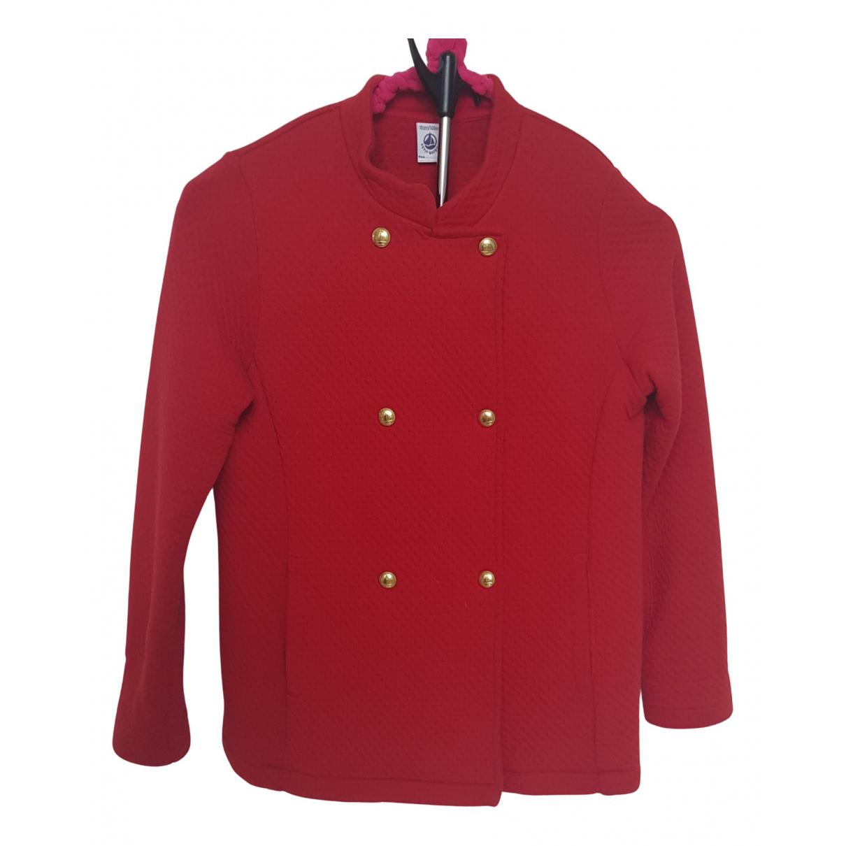 Petit Bateau - Blousons.Manteaux   pour enfant en coton - rouge