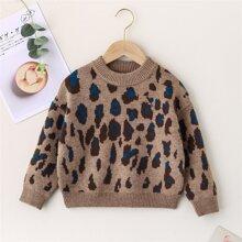 Pullover mit Muster und sehr tief angesetzter Schulterpartie