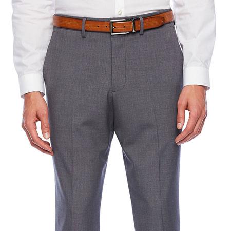 JF J.Ferrar 360 Stretch Slim Fit Flat Front Pant, 36 30, Gray