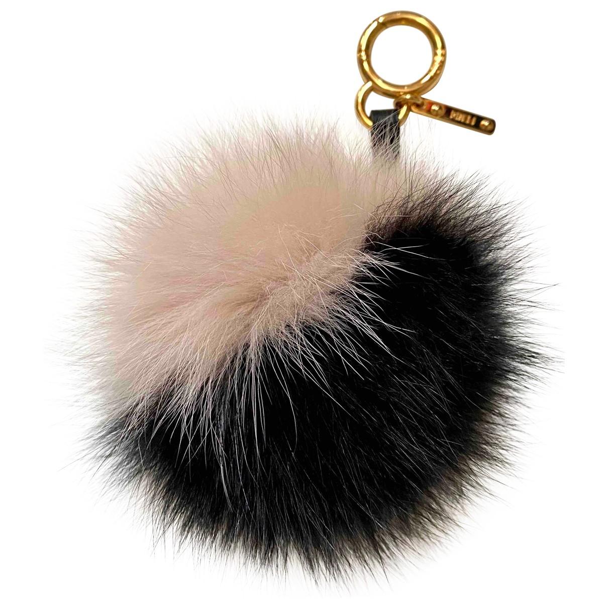 Fendi Pompon Black Fox Bag charms for Women \N