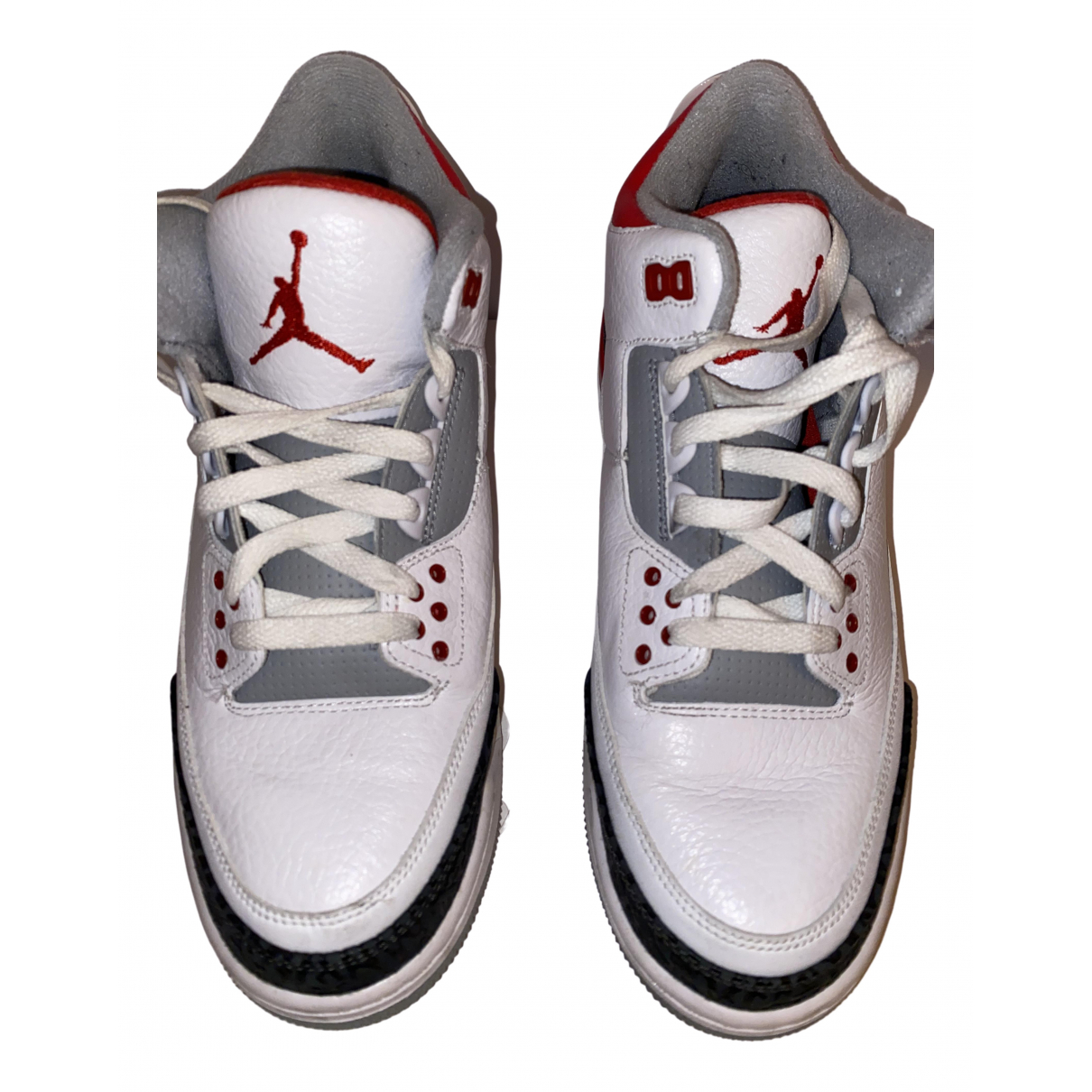 Jordan Air Jordan 3 White Leather Trainers for Men 42 EU