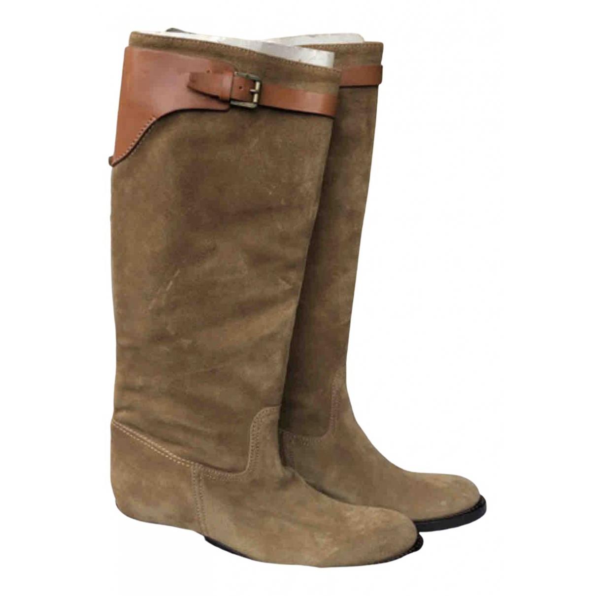 Polo Ralph Lauren N Beige Suede Boots for Women 7 UK
