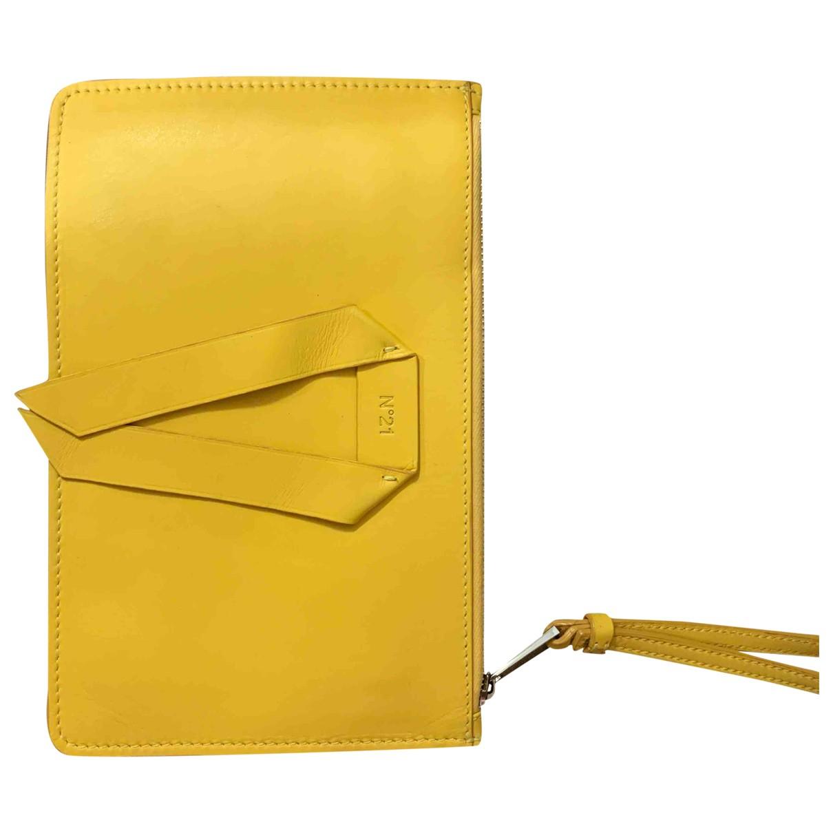N°21 \N Clutch in  Gelb Leder