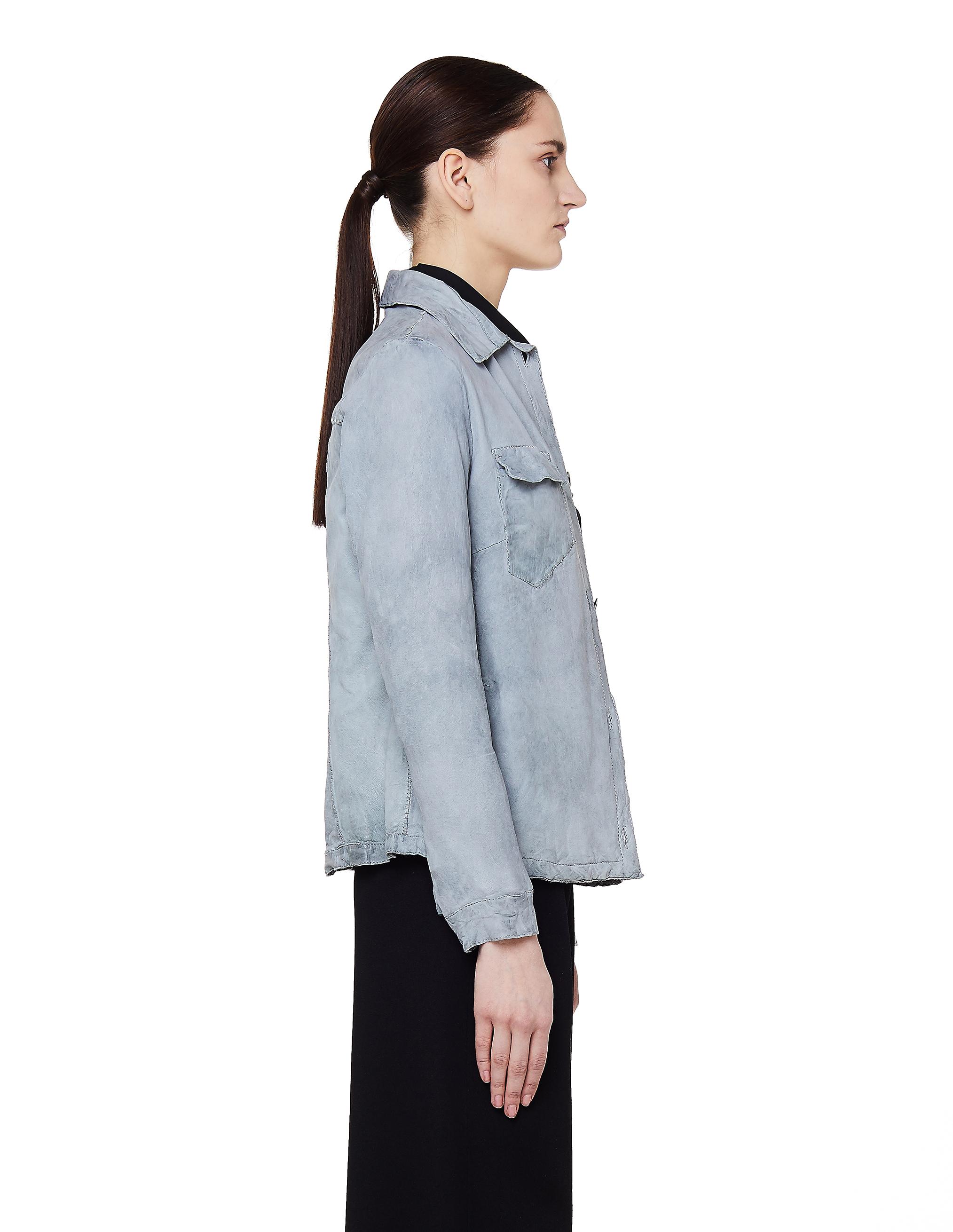 Salvatore Santoro Light Blue Leather Jacket