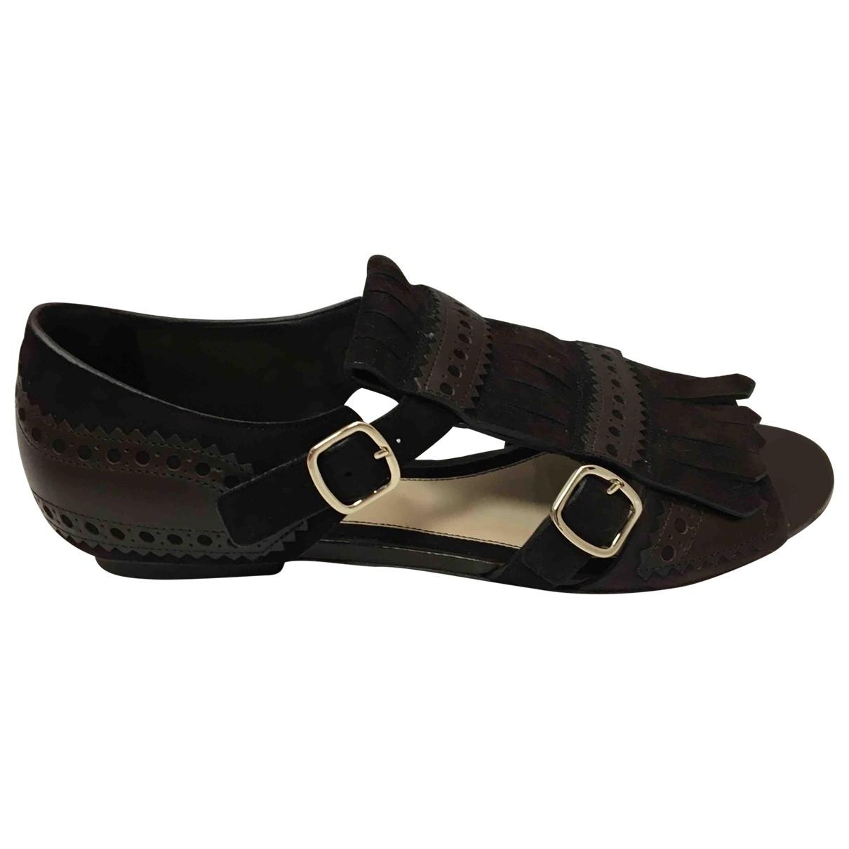 Sandalias romanas de Cuero Santoni