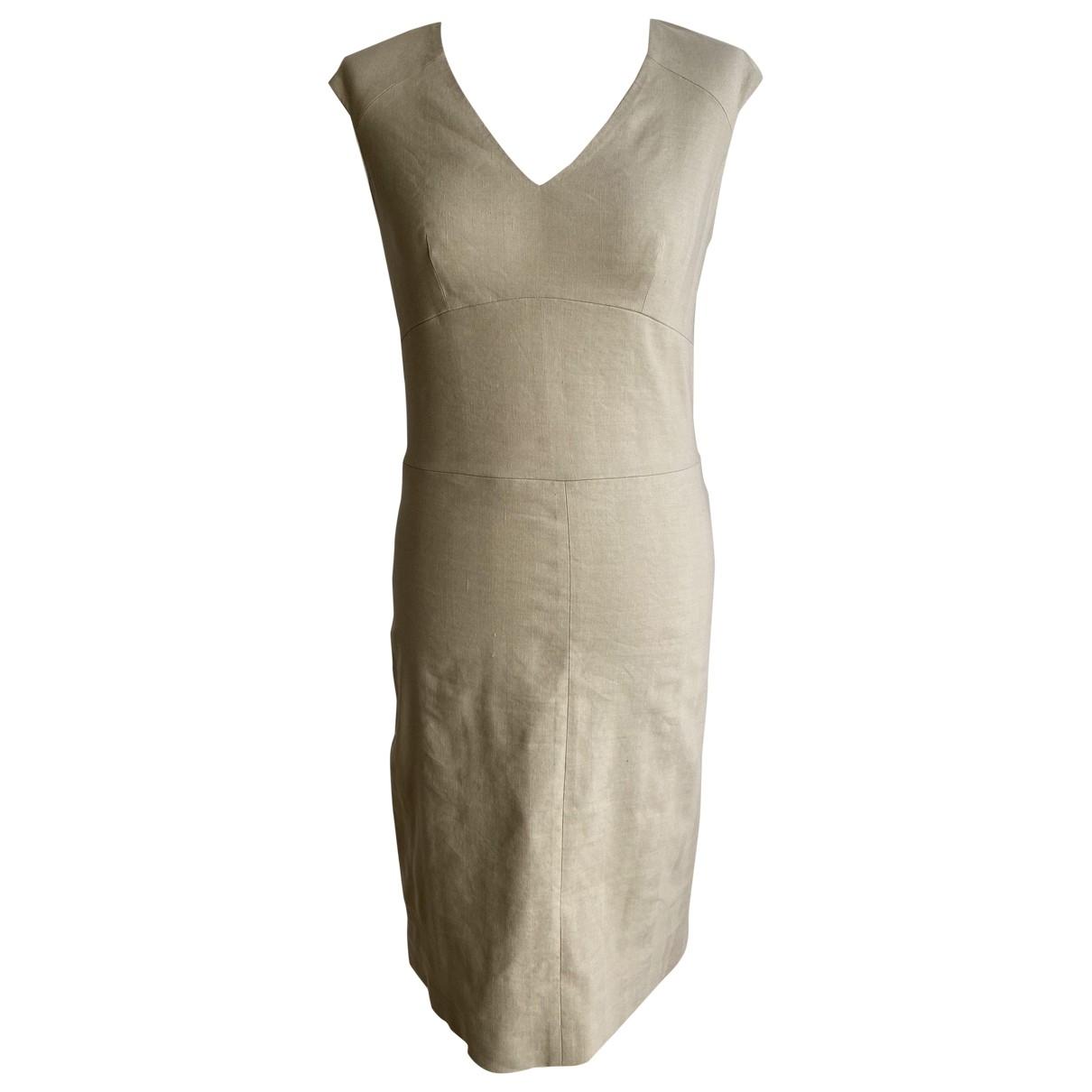 Joseph \N Kleid in  Ecru Leinen