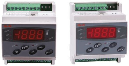 Eliwell DR 985 On/Off Temperature Controller, 70 x 85mm, PTC Input, 230 V ac Supply