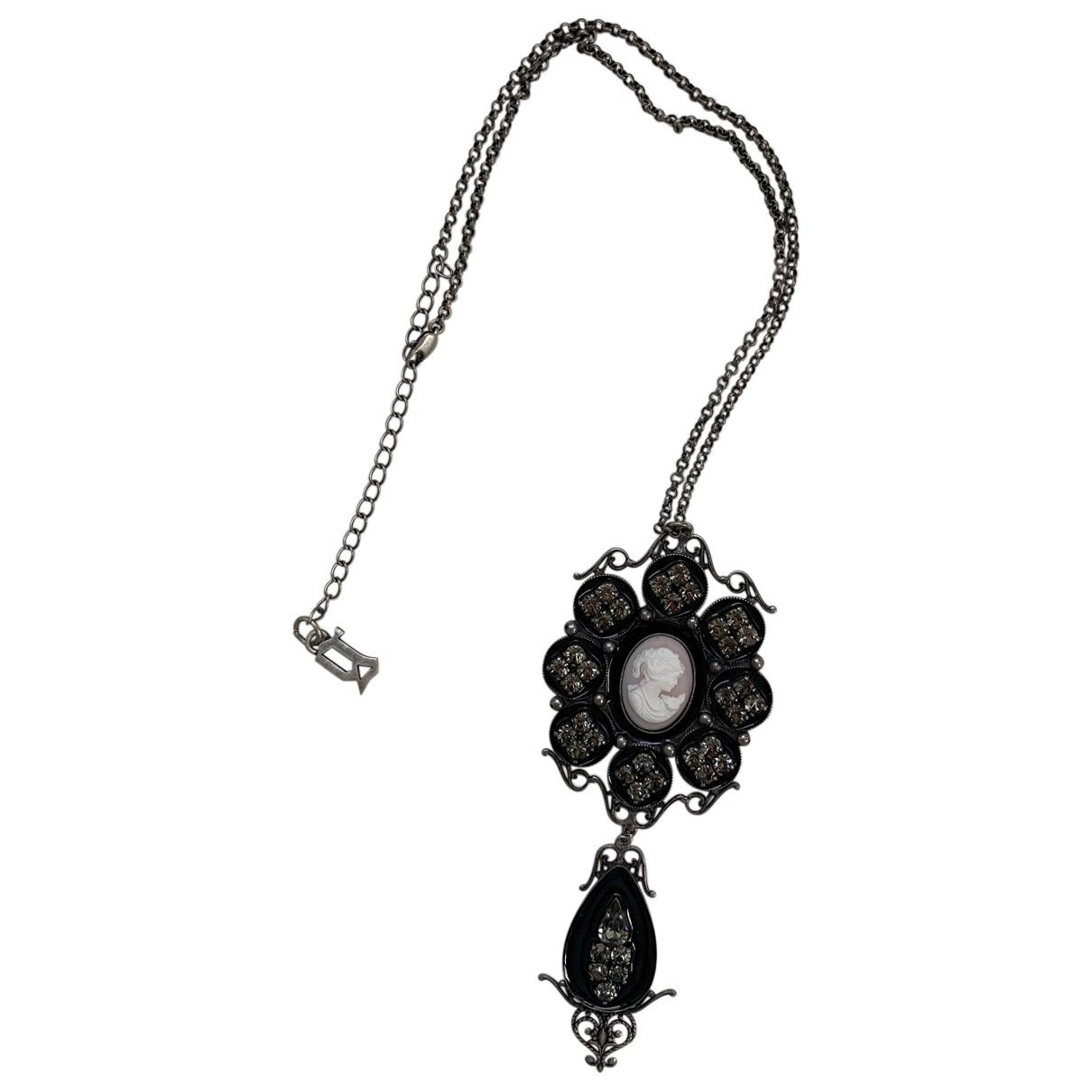Galliano \N Halskette in  Schwarz Metall