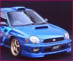 STi Bonnet Duct 02 - Brand Painted Subaru Impreza Sedan GD 02-07