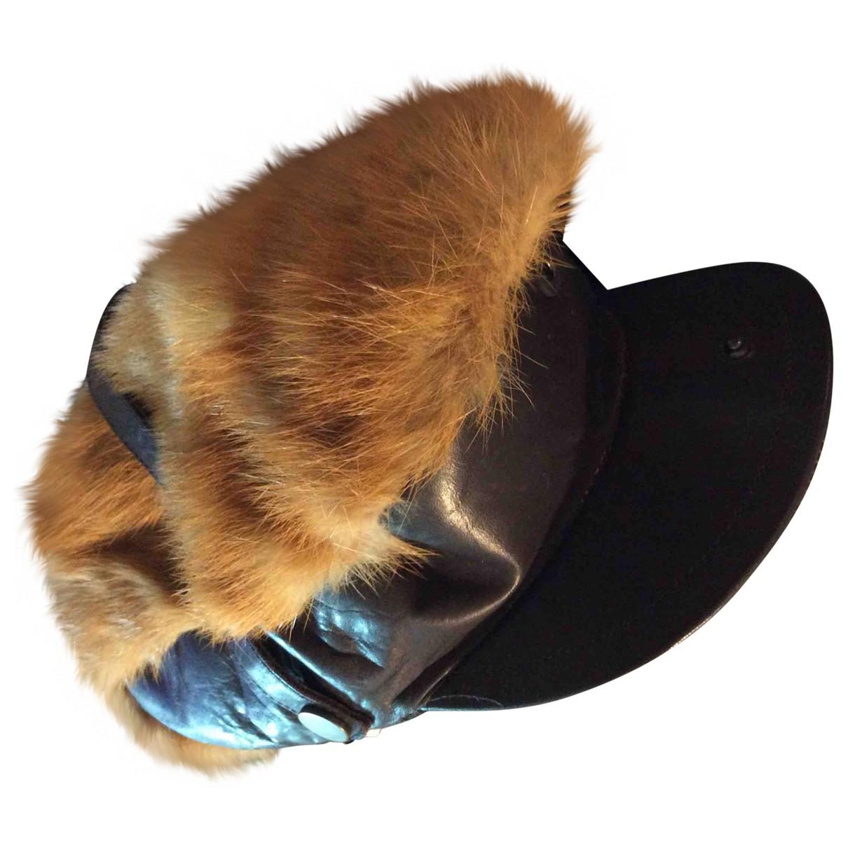 Dsquared2 - Chapeau & Bonnets   pour homme en cuir - marron