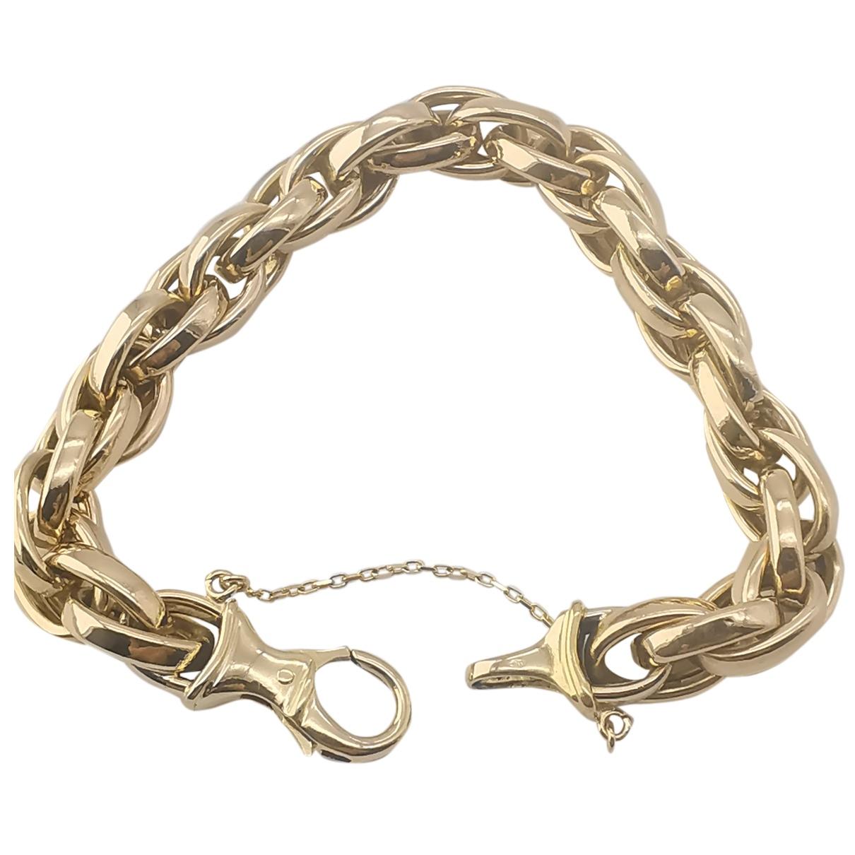 - Bracelet Chaines pour femme en or jaune - dore