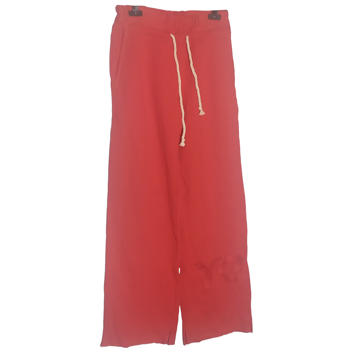 Y-3 N Red Cotton Trousers for Women S International