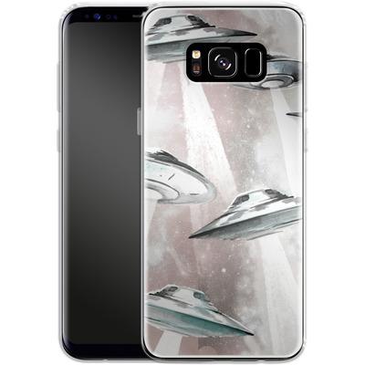 Samsung Galaxy S8 Silikon Handyhuelle - Beam Me Up UFO von caseable Designs
