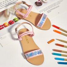 Toddler Girls Holographic Slingback Sandals
