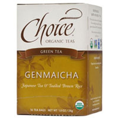Genmaicha Green Tea With Toasted Brown Rice 16 BAGS by Choice Organic Teas