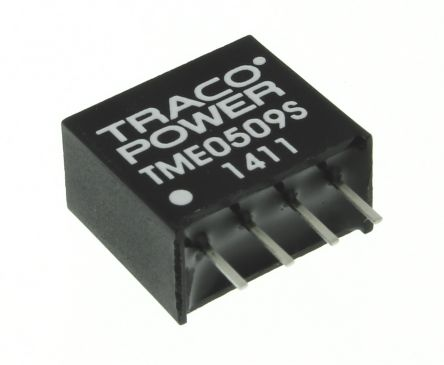 TRACOPOWER TME 1W Isolated DC-DC Converter Through Hole, Voltage in 4.5 → 5.5 V dc, Voltage out 9V dc