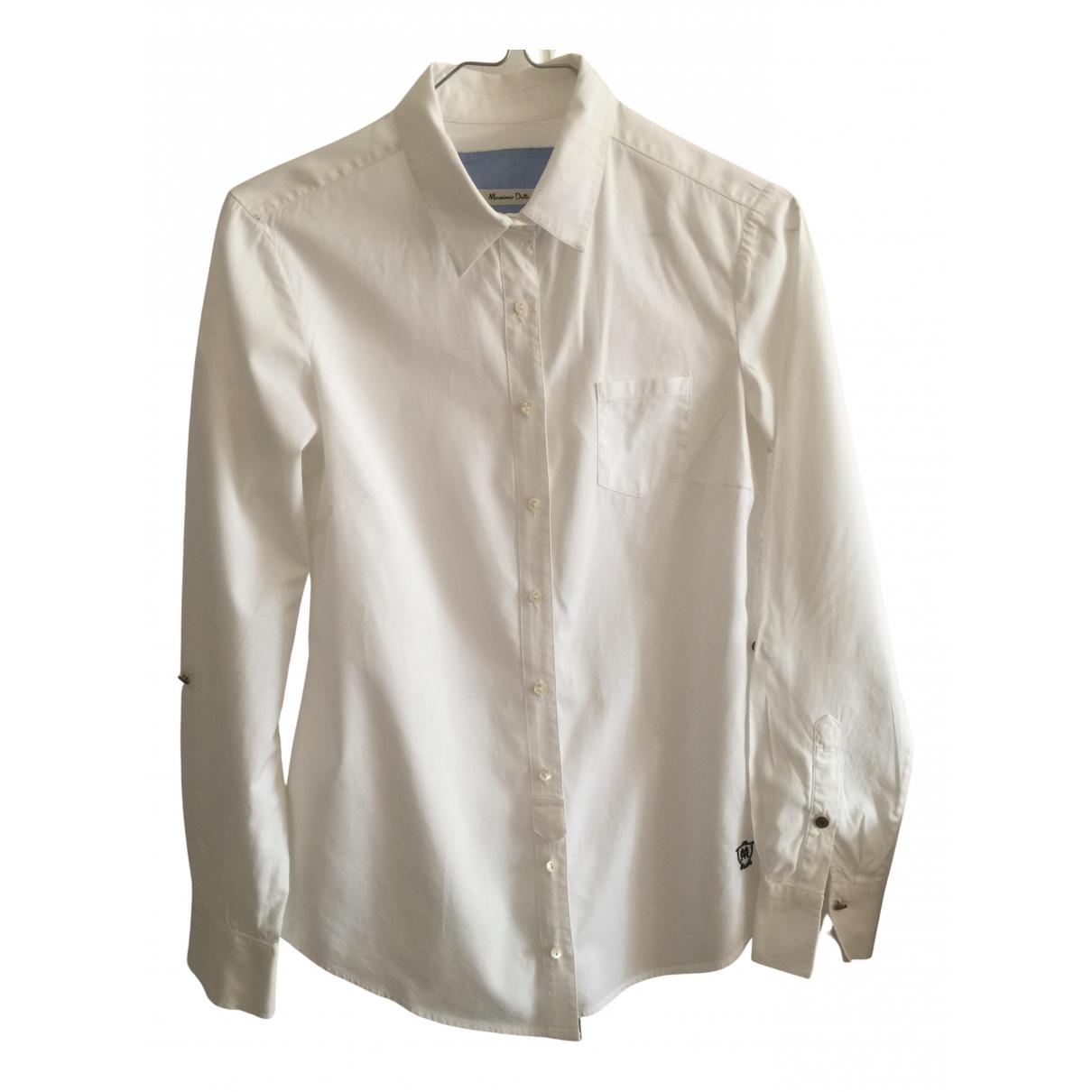 Massimo Dutti N White Cotton  top for Women 36 IT