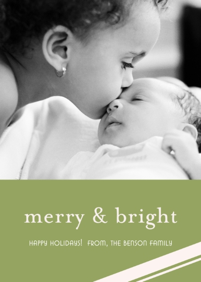 Christmas Photo Cards Mail-for-Me Premium 5x7 Folded Card , Card & Stationery -Merry & Bright Holiday
