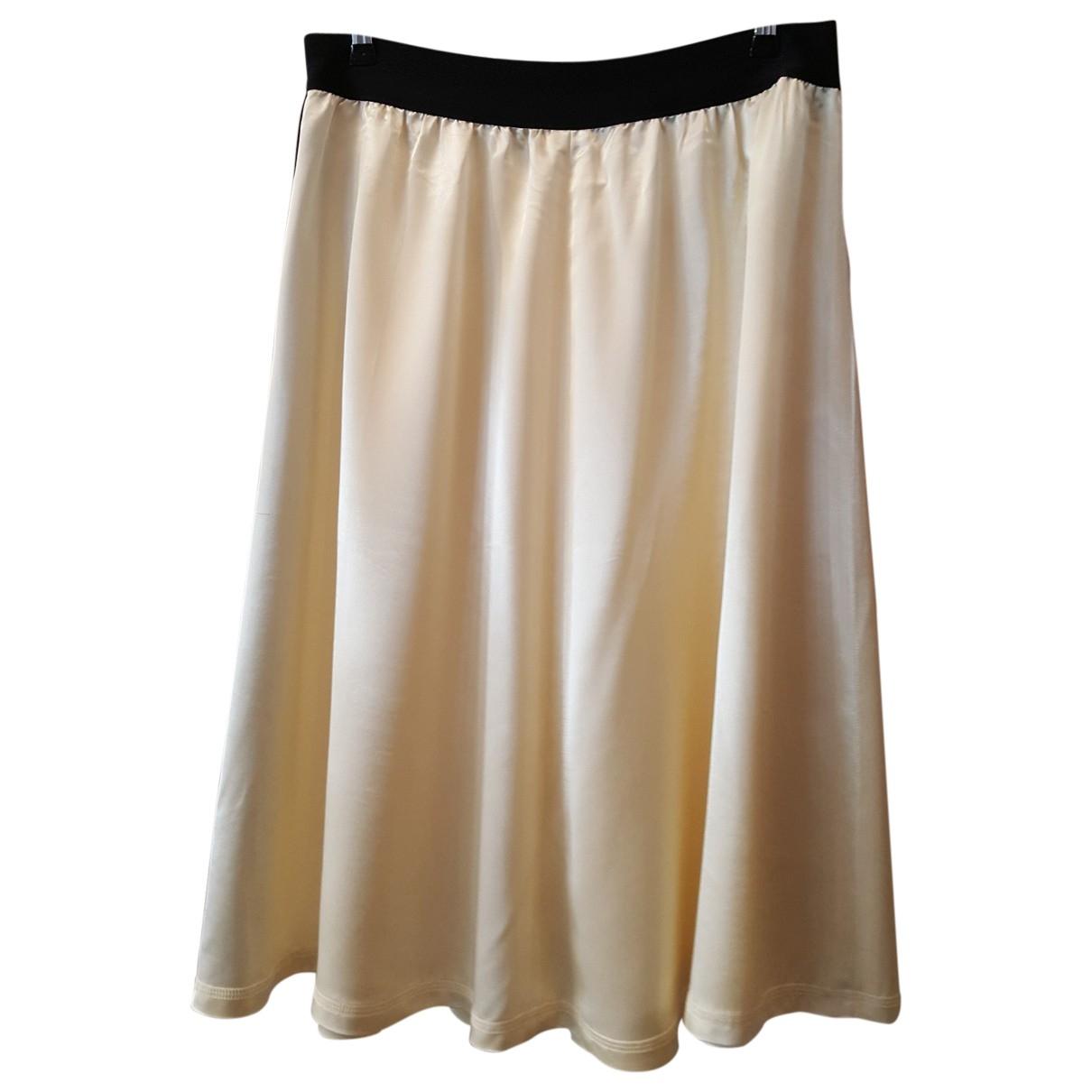 Celine \N Ecru Silk skirt for Women 42 FR