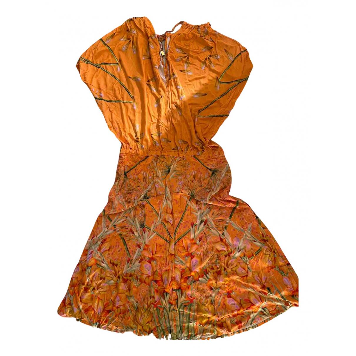 Class Cavalli \N Kleid in  Orange Baumwolle - Elasthan