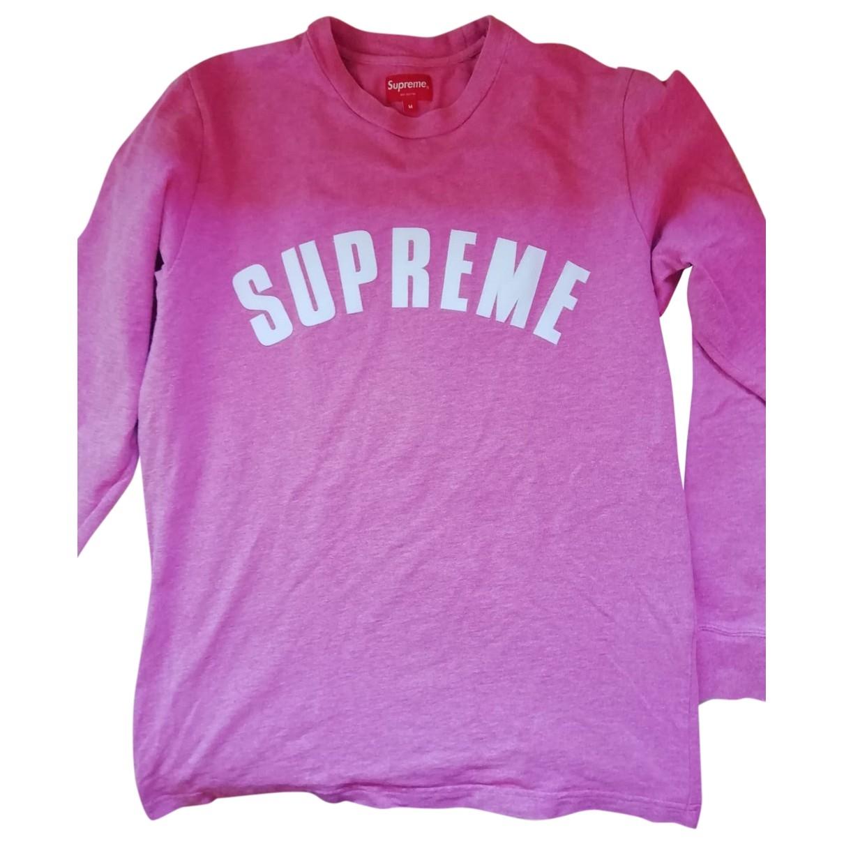 Supreme \N Pullover.Westen.Sweatshirts  in  Rosa Baumwolle
