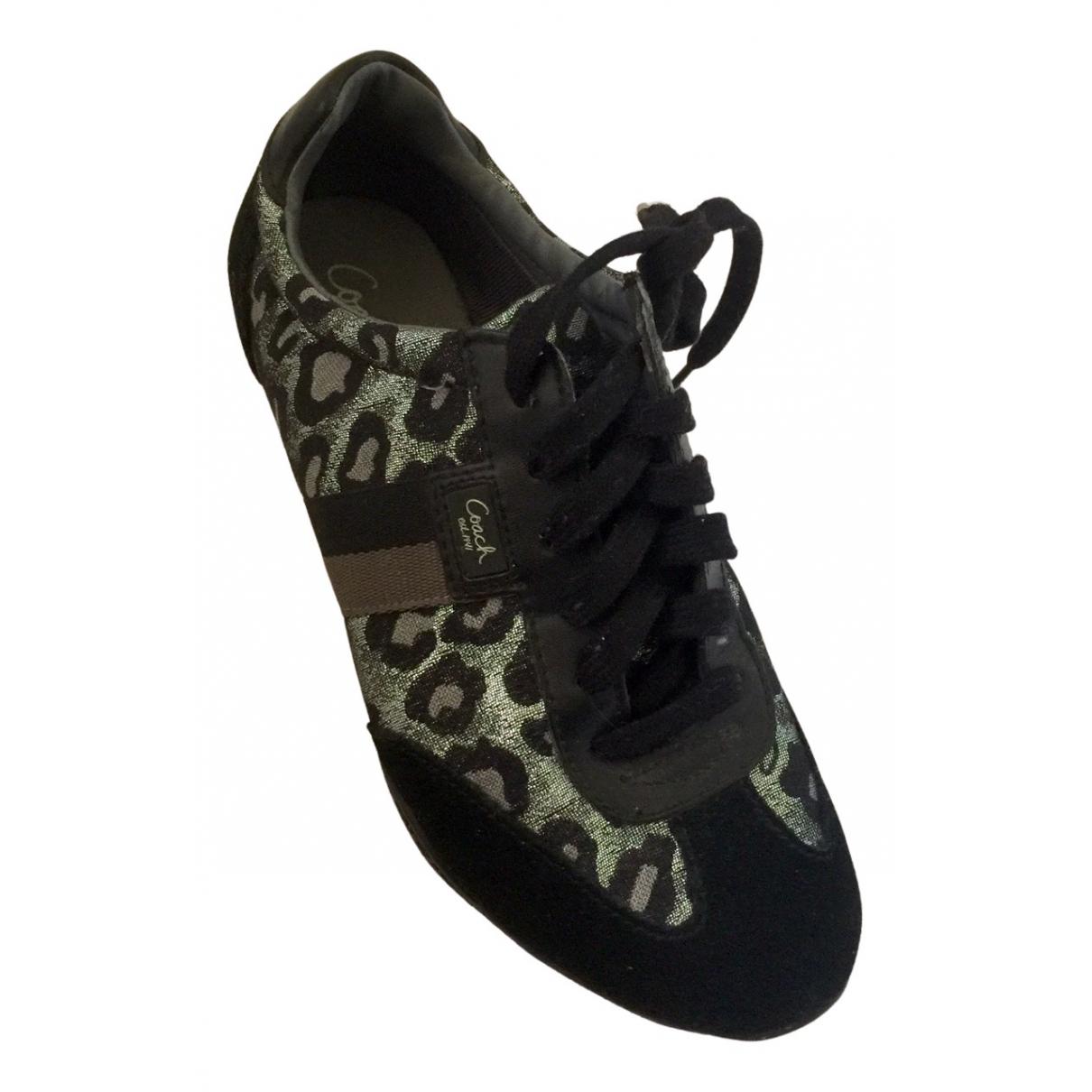 Coach \N Sneakers in  Silber Leinen