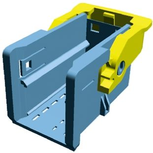 TE Connectivity , MCP Female 25 Way Carrier for use with Receptacle Inserts